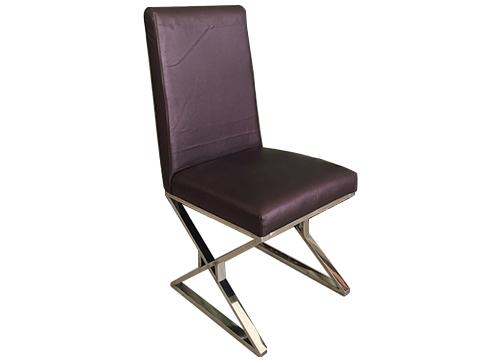 交叉脚不锈钢酒店椅
