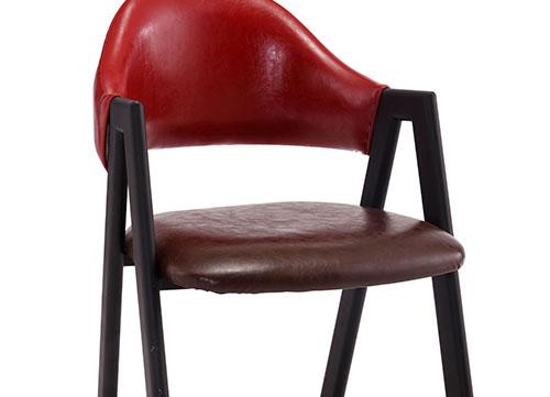 酒红色A字椅