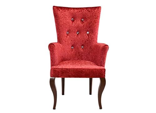 红色扶手纽扣酒店椅E95A5077