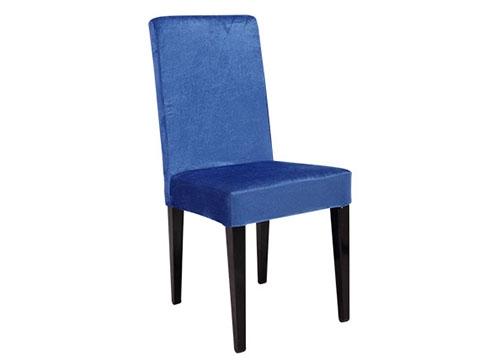 蓝色包布酒店椅
