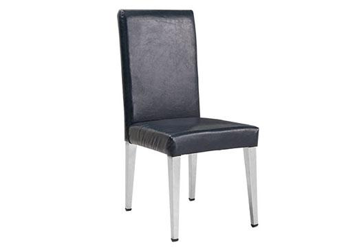 直脚直背不锈钢包布酒店椅