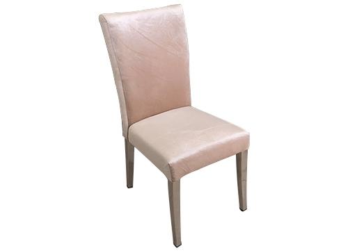 直脚弯背不锈钢包布椅
