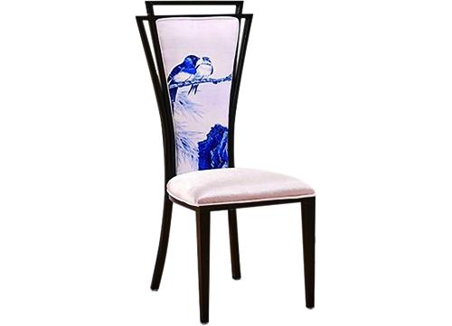 青色花鸟酒店椅