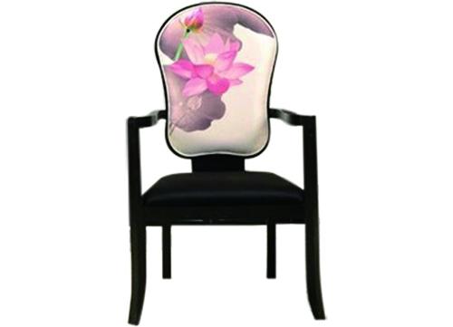 中式荷花扶手酒店椅