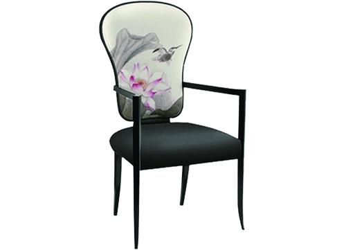 新中式扶手酒店椅