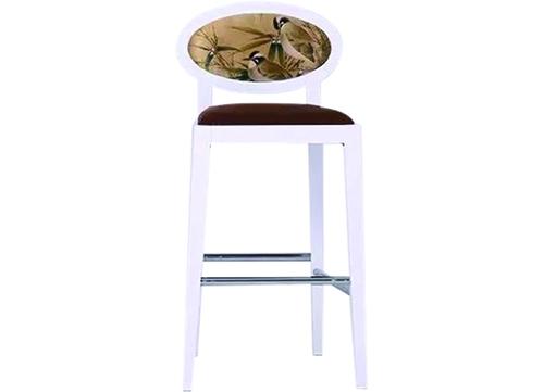 白色圆背吧椅