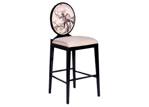 广西古典圆背吧椅