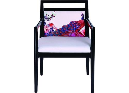 中式扶手酒店椅