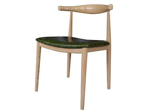 牛角椅绿半包酒店椅