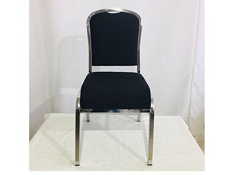 海南黑色不锈钢宴会椅