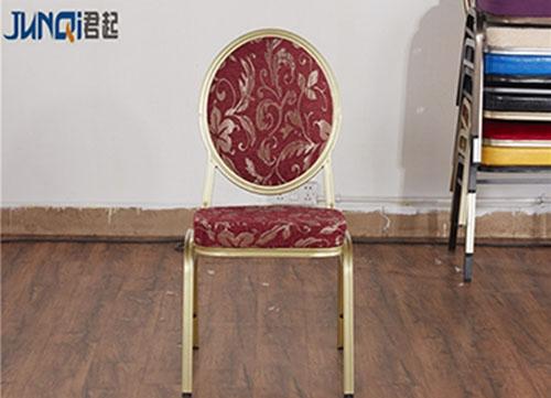 海南红丝绒布艺餐椅