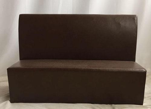 棕色卡座沙发