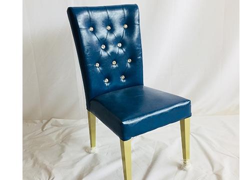 深蓝色软包椅