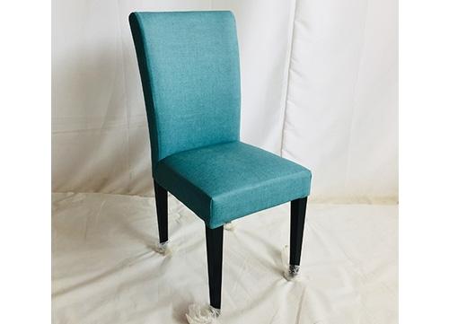 湖蓝色软包椅